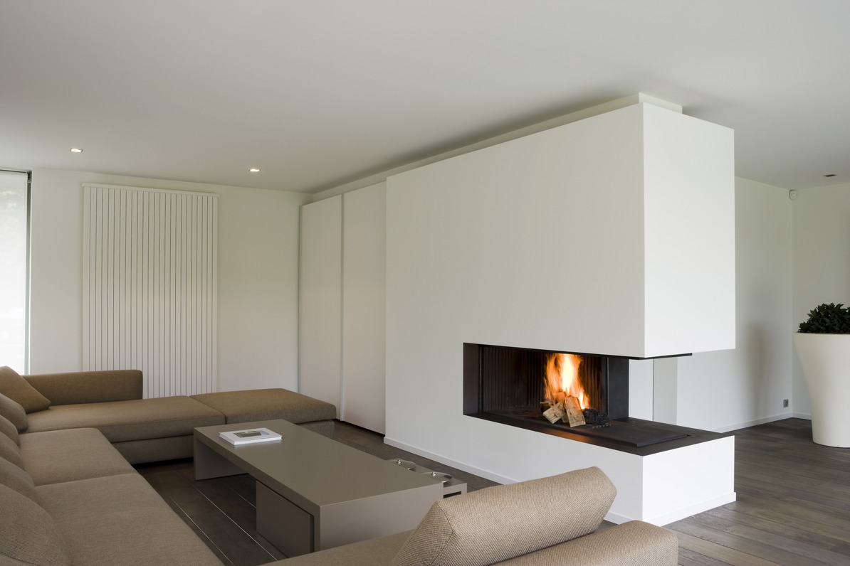 Abc haarden for Open sided fireplace